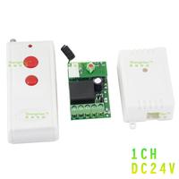 Learning DC12V channel wireless remote control switch +100 m two-button remote control Mini Receiver Enclosure + White Case