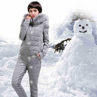 2014 winter new European stand down jacket a short paragraph piece fitted suit pants down