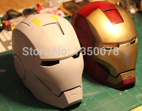DIY Iron Man Helmet,Mark1-8 Mask,3D Modeling Assembly,Kids Toy Helmet,Papermodel,Cosplay,The Avengers,Garage Kits,Robot Helmet(China (Mainland))