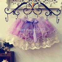 Retail children lace skirt Baby tutu skirt 2014 pink cake tutu girls skirts 2T-8 saia ballet skirt fantasia free shipping