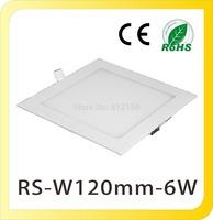 Wholesale 120pcs 110V~240V Square Ultra Thin 6W 12cm LED Panle Lights LED Ceiling Lamps Recessed