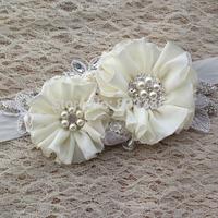 Free Shipping New 2014 Ivory Rhinestone Flower Bridal Sash Wedding Belt with rhinestone