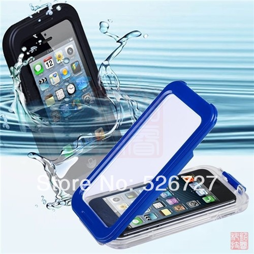 IPX-8 Durable Waterproof Shockproof Dirt Snow Proof Case Cover Outdoor Case for For Apple iPhone 5 5S 4 4S iPod Touch 5 Pouch(China (Mainland))