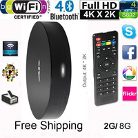 Measy B4A Quad Core Android 4.4 XBMC Smart TV Box Amlogic S802 4K*2K 3D Blu-Ray Player W/ Wifi Bluetooth Miracast DLAN Airplay