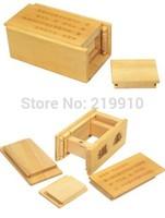 Free shipping Magic Wooden Puzzle Box (Secret Drawer)  - Close Up Magic/Magic Trick