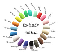 New Nail Decoration Eco-friendly Nail Sand Nail Accessory 20Option Colors free shipping 4UNL213