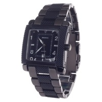 BADACE 2050Fashion Stainless Steel Quartz Wristwatch Black Stainless Steel Rectangle Calender Display wrist watch