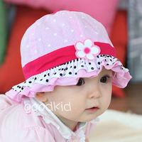 New Arrived 100% Cotton Spring flower hat baby hats children's hats children bucket  sun hat wholesale the spot
