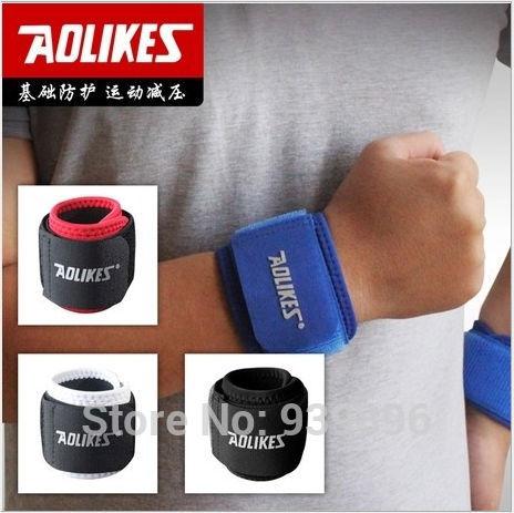 Free shipping Adjustable Sports Wrist Basketball, badminton winding protective wrist Weight lifting pressure retaining the wrist(China (Mainland))