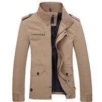 2014 New Fashion Men Jackets Single Breasted Outerwear  Autumn Jackets For Men Casual Coats Men Clothing Plus Size XXXL XXXXL