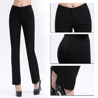 Plus Size XXL Lady's Formal Business Suit Pants Solid Black  Long Pencil Trousers Women's Casual Work Skinny Pants