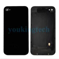 Black Original Battery Back Cover Housing Door Real Glass Repair For Iphone 4G