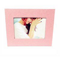 Simple Eco-Friendly Desktop Photo Frame / 7-inch frame - Pink Creative Home Decoration 7 Inches Wall Hanging Photo