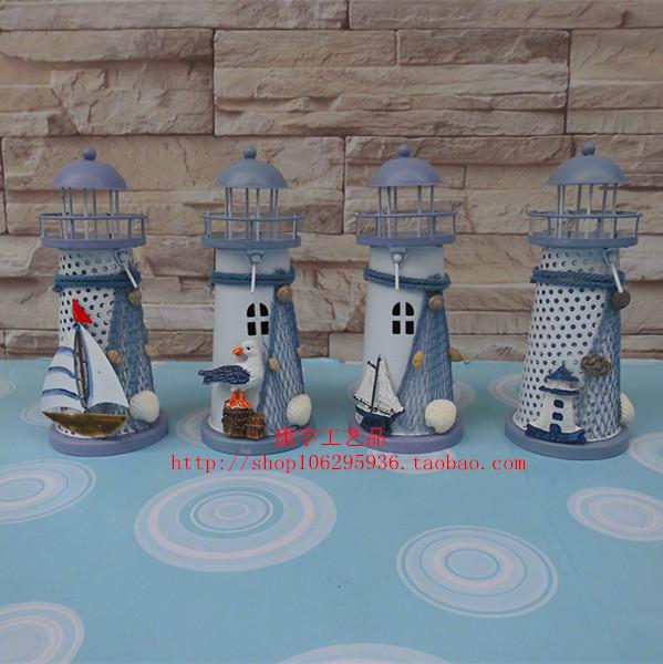 Em estilo mediterrâneo , acessórios para enfeites artesanais farol de ferro forjado presentes de casamento criativa Candlestick(China (Mainland))