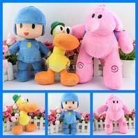 3PCS/Set POCOYO and Friends Cartoon Dolls Stuffed Animals Toy Plush Toys Hobbies Elly Elephant Pato Duck POCOYO Baby Kids Toys