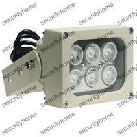 High Power IR Illuminator 6PCS 2W 850nm Wavelength Outdoor Weatherproof 13w Power 30 Degree IP66