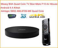 Measy B4A 4K 3D Blu-ray Stream TV BOX Quad Core XBMC Android TV Box 4K*2K Amlogic S812 AML8726-M8 W/ XBMC DLAN Airplay +MELE F10