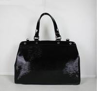 Top quality brea monogram genuine calf epi leather black women's tote handbag shoulder bag fashion gift free shipping wholesale
