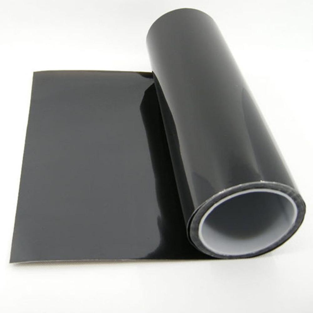 "Free Shipping Vinyl Film Tint Headlight Taillight Foglight 15""x354""/40cmx900cm dark black(China (Mainland))"