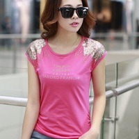 2014 South Korean style Women's short-sleeved cotton shirt bottoming large yards loose cotton T-shirt Women AS-63