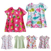 Summer infant female 100% cotton basic shirt small cute princess dress  3pcs/bag