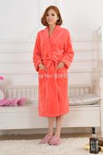 Bathrobes women high quality fleece bathrobe night-gown best selling Free Shipping(China (Mainland))