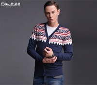 2014NEW!!!Men's sweaters Men cardigan Warm sweater Backing v-neck sweater