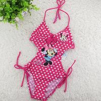 Minnie mouse Girls Swimwear One Piece 6-12T Girls Swimwear Girls Children Swimwear Swimsuit Kid Summer Swimwear