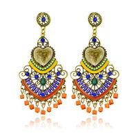 2014 European and American big earrings for women handmade brincos grandes heart vintage wedding drop earrings free shipping