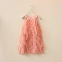New 2014 Summer Hot sale!  Baby girls princess dress children's wear veil chiffon  party dress 5pcs/lot