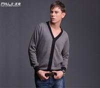 2014NEW!!!Autumn outfit bigger sizes Men's long sleeve Sweater men's v-neck Men's sweaters render unlined upper garment