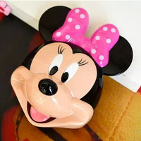 2014 New Fashion Mickey Cartoon cute 12000mAh Power Bank USB External Universal Battery Charger With Retail Package