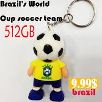 2014 World Cup soccer team USB flash drive  Super big capacity USB flash memory  cartoon 64GB pen drive free shipping