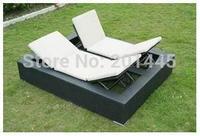 Outdoor Chaise Lounge rattan sun lounger beach chair folding recliner garden furniture
