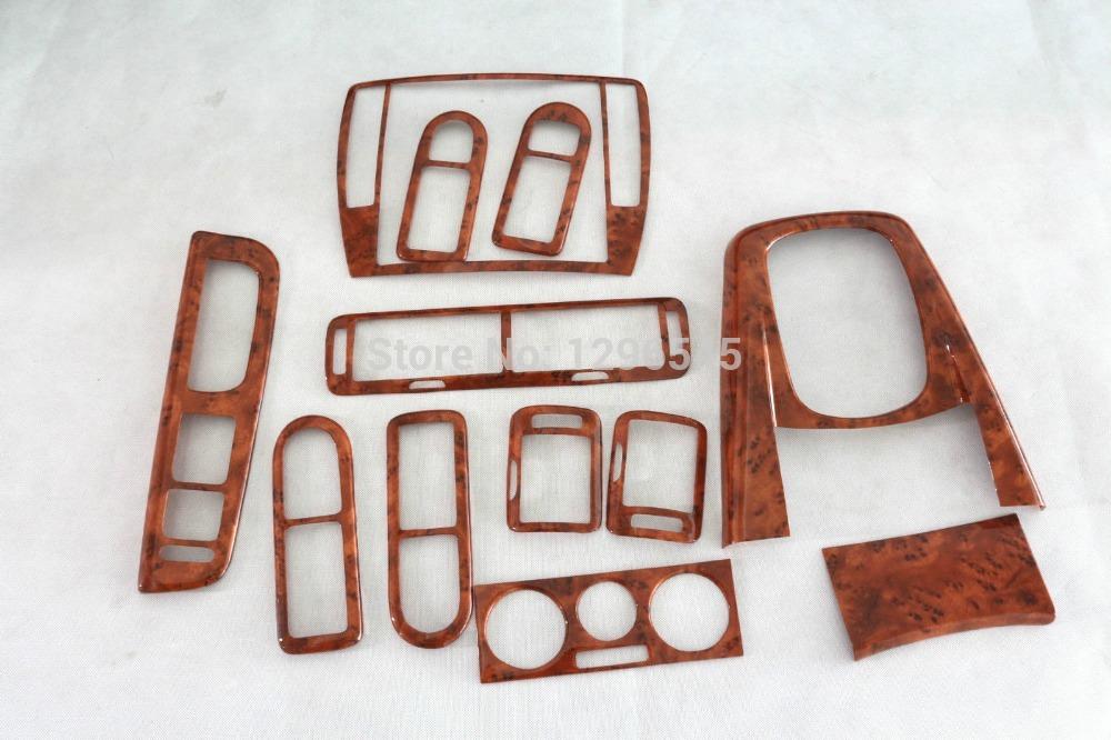 12 pcs Set Light Walnut Dash Door Air Vent Hand Interior Trims for VW Passat B5(China (Mainland))
