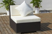 Rattan Wicker Sectional Middle  Sofa outdoor living garden modern sectional sofas lounge ottoman furniture set