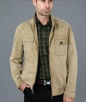 2014  spring khaki zipper new arrival suits casual blazers fashion design blazer men suit clothing style male outerwear M - 3XL