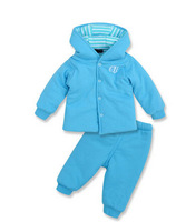 Free shipping winter thick cotton-padded jacket quilted baby suit
