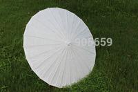 (100 pcs/lot) Handmade Diameter 33'' Chinese Bamboo with Solid Color Paper Elegant Wedding Umbrellas