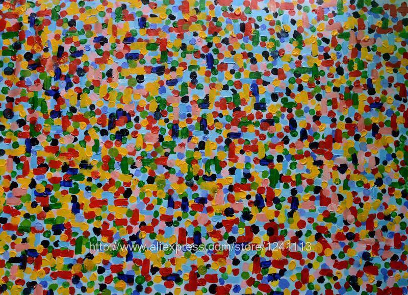 Pintura abstrata colorida Painel de parede de cabeceira para o fundo Decora??o Casa de Banho Decora??o Wall Pinturas a óleo da arte na lona(China (Mainland))