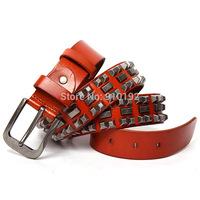 The new belt men personality rivet punk leather belts