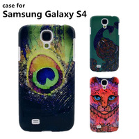 Sale New cover case for Samsung fashion cell mobile Phone cases animal pattern PC hard cover case for galaxy S4 Free shipping