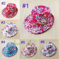 Retail kids children fedora hat, baby jazz cap,kids top hat, kids fedoras,girls trilby caps children headgear 2pcs/lot BH-1092