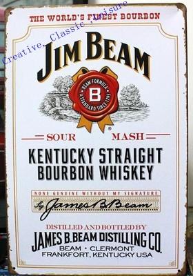 Free shipping JIM Whisky Vintage Tin sign metal wall art decor , Whisky Sign Home Pub Cafe Bar Metal Painting poster ,30x20cm(China (Mainland))