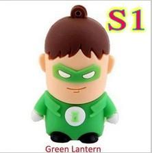 Retail Cartoon Super Hero Pen Driver Green Lantern USB Flash Drive 2GB 4GB 8GB 16GB 32GB 64gb Pendrive USB Memory Stick(China (Mainland))