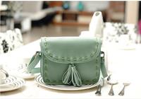 2014 Korean New women bag female leisure packages vintage lady shoulder bag tassel handbags  hand-knitted bag