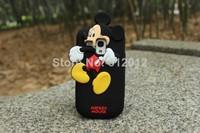 3D cute Cartoon Animal winnie Minnie Donald Duck Chip Mickey Mouse Piglet case for Samsung Galaxy S3 mini i8190