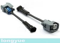 longyue  20pcs universal female ev14/ev6 to male MFP fuel injectors connector adapter 10cm wire