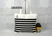 2014! Hot sale New Arrival!!!! Shopping Bag /Hand canvas handbags shoulder bags/black stripes