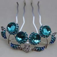 Wholesale Wedding Bride Crystal Hair Comb Bridal Accessories Wedding Jewelry Rhinestone Tuck Comb Free Shipping